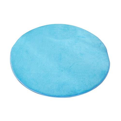 JCOCO Tapis de Forme Circulaire de Mode Style européen Anti-dérapant imperméable à l'eau Anti-Fading Salon Chambre Tapis Ordinateur Coussin (Couleur : Royal biue, Taille : 120 * 120cm)