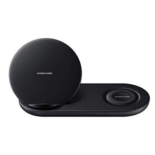 Wireless Charger, 12shage 2 in 1 Fast Schnell Ladegerät für Samsung Phone für Samsung Watch (Schwarz)