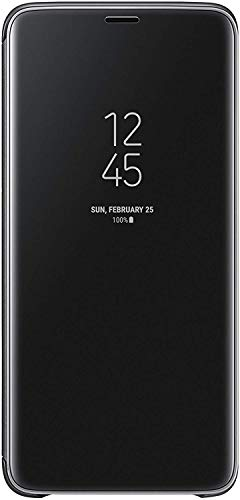 Samsung Clear View Standing Cover - Funda para Galaxy S9+, color negro