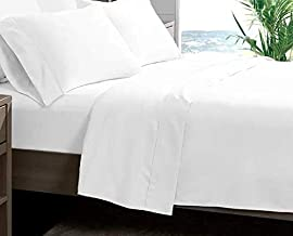 Vellkin - Queen Bed Sheet Set | White | 4 Piece | 1800 TC | 120 GSM | Double Brushed Microfiber | Super Soft Bedding | Wri...