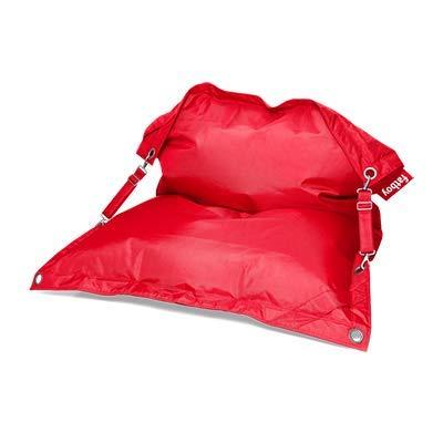 Fatboy Buggle-Up Beanbag | Le Pouf polyvalentI Banquette et Pouf en Un | 180 x 140 cm | Polyester I Résistant aux UV, à l'eau et aux salissures I Rouge