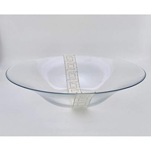 A&D Antigua - Centro de mesa de cristal con decoración de 38 cm, fabricado en Italia