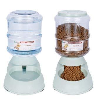 AKlamater Distributeur automatique d'eau pour animal domestique - Peut automatiquement remplir la nourriture et l'eau - Grande capacité de 3,8 l - Vert