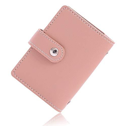 VOLAN スキミング 防止 カード ケース RFID ブロック 24枚 収納 クレジット カード入れ ホルダー メンズ レディース CARD CASE 6カラー (ピンク)