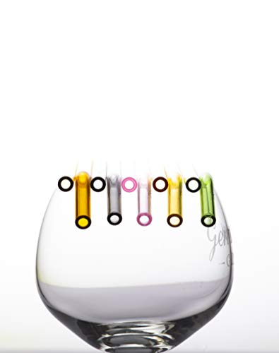 majnberg cannucce di Vetro Confezione da 10, 20cm cannucce di Vetro per Bere, Tubi per Bere Lavabili in lavastoviglie e infrangibili, 5X Dritto, 5X Curvo (Colorata)