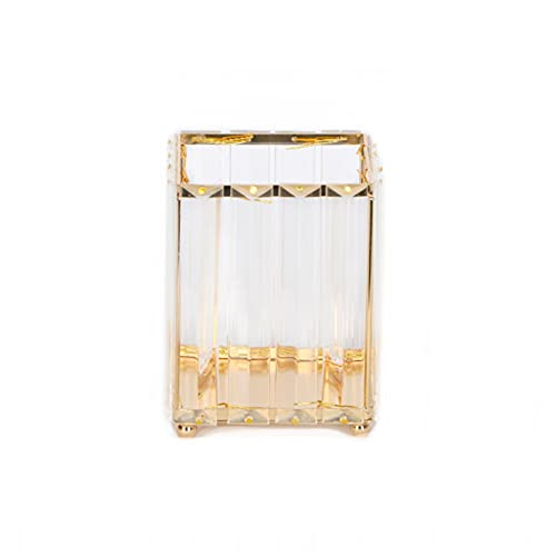 Luce di lusso di lusso Trucco Pennello Pennello Nordic Style Spazzola in ferro Secchio Desktop Electroplating Golden Beauty Brush Brush Pettine Penna sopracciglia