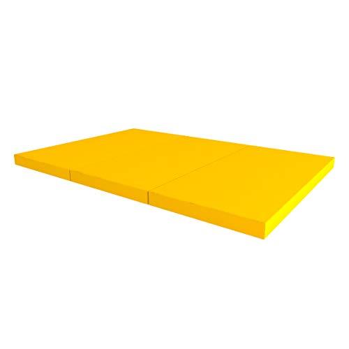 Idealfit klappbare Turnmatte Soft Shield Pro gelb 150x100x10cm, IFA-93