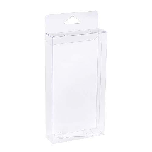 BENECREAT 16PCS PVC Caja Plegable Cajita Plástica 8x2.5x15cm Envase Transparente de Regalo...
