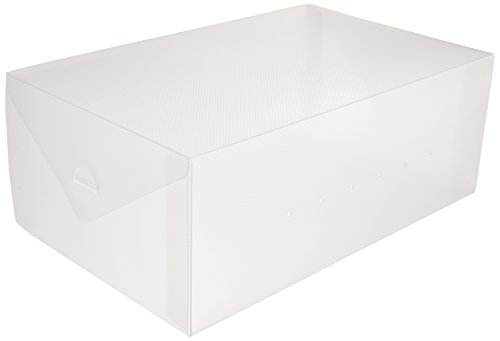 Greenco Clear Foldable Shoe Storage Boxes-10 Pack
