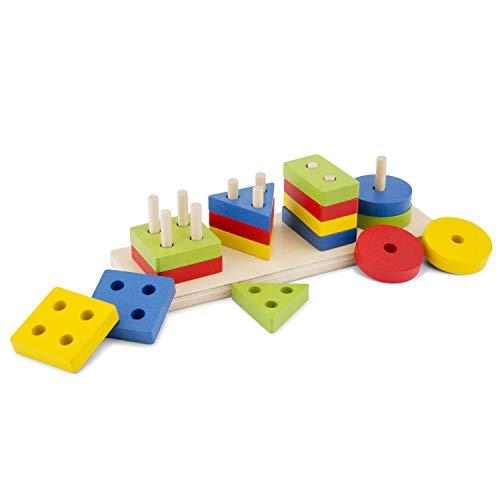 Geometric Stacking Puzzle, multicolore color (10500) , color/modelo surtido
