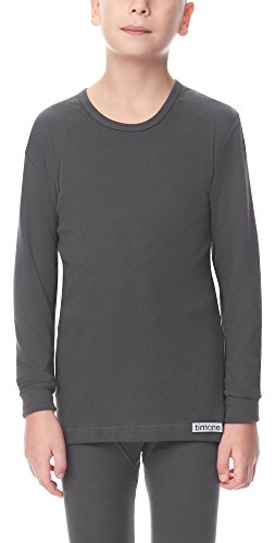 Timone Jungen Langarm Unterhemd (Graphite, 116)