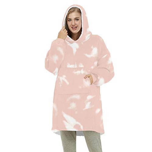 DREAMING-Langarm Top Digitaldruck Winter Kaschmir Home Paar Warm Zwei Seiten Können Decke Pullover Tragen