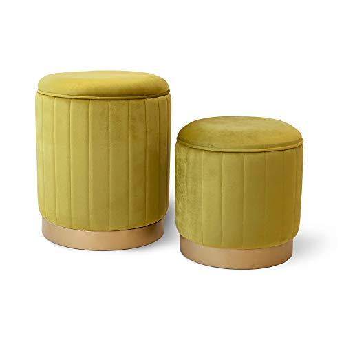 pouf contenitore in velluto Tuoni