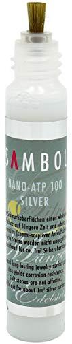 Sambol® Silber-Anlaufschutz NANO - ATP 100 Stift (25 ml) | Schutz vor Kratzern, Schmutz und Verfärbungen | mit Präzisionspinsel | optisch unsichtbar
