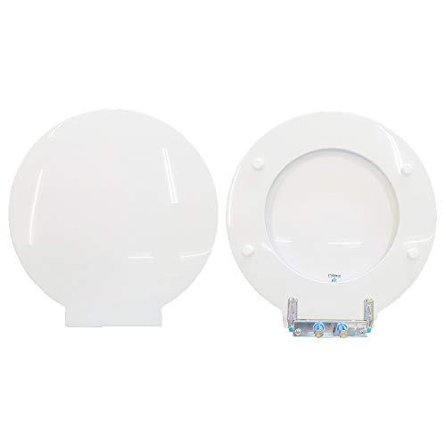 You & Me Hatria WC-Sitz aus Holz, beschichtet mit Polyesterharz, Weiß