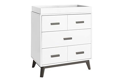 Great Features Of Babyletto Scoot 3 Drawer Changer Dresser with Removable Changing Tray in Slate/Whi...