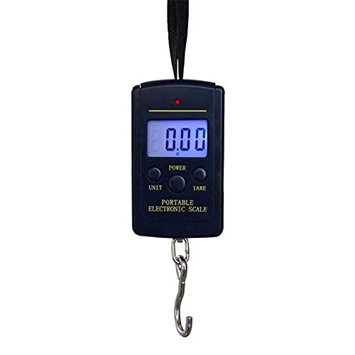 QAWSED Equipaje Electrónico Que Pesa 40Kg X 10G Mini Báscula Digital Para Equipaje De Pesca Viaje Cocina Pesaje Steelyard Colgante Gancho Electrónico Básculas Herramientas De Peso