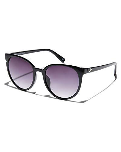Le Specs Armada Black Smoke Gradient Sonnenbrille Damen - Gestell Schwarz Glas Schwarz mit Verlauf - Retro Cateye Form Groß - 1902089