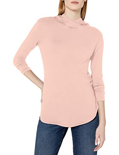 Amazon-Marke: Daily Ritual Supersoft Terry Long-Sleeve Hooded Pullover Hemd, Rose, M