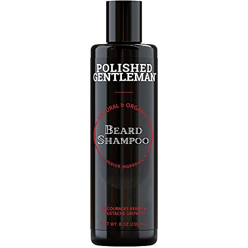 Beard Growth and Thickening Shampoo - with Biotin and Organic Beard Oil - Facial Hair Growth Shampoo - Natural Beard Wash for Men - Mustache and Beard Grooming Kit - Small Beard (8oz) - Made in USA