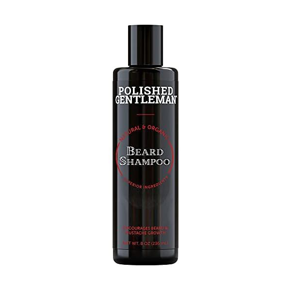 Beard Growth and Thickening Shampoo - with Biotin and Organic Beard Oil - Facial Hair Growth Shampoo - Natural Beard… 1