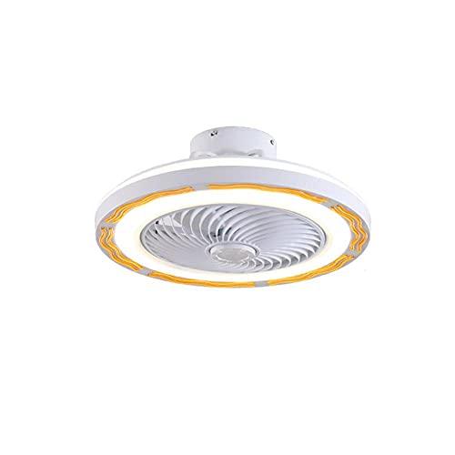 Ventilador De Techo con Iluminación, 36W Ultra Silencioso Ventilador De,Ajustable Velocidad del Viento Y De Atenuación,con Control Remoto,Sala De Estar, Cuarto Ventilador De Lámpara,50CM-Marrón
