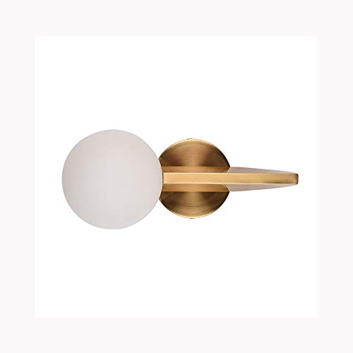 TRRYHZAG Creative Gold Metal Wandleuchte White Glass Ball Wandleuchte Messer-Form Innenwandleuchten