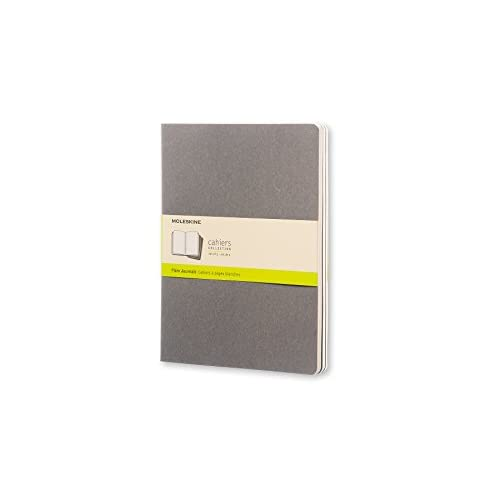 Moleskine Plain Cahier Journal: Light Warm Grey Extra Large