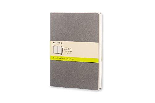 Moleskine Cahier Journal da 120 Pagine, Set 3 Quaderni a Righe, Copertina in Cartoncino, Dimensione Extra Large 19 x 25 cm, Colore Grigio Chiaro