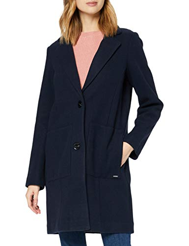 TOM TAILOR Denim Damen Bonded Woll Blazer Jacke, 10668-Sky Captain Blue, S