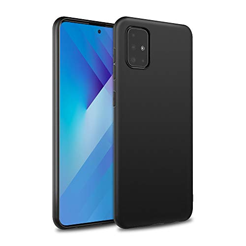 Agedate Funda para Samsung Galaxy A51, Premium Soft TPU Anti-Scratch & Choque Carcasa de silicona para Samsung A51 6,5 pulgadas, color negro