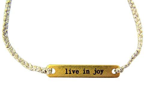 『Joy in a Jar Kingdom インスピレーションジュエリー スレッドブレスレット 真鍮プレート付き 6インチ』の2枚目の画像