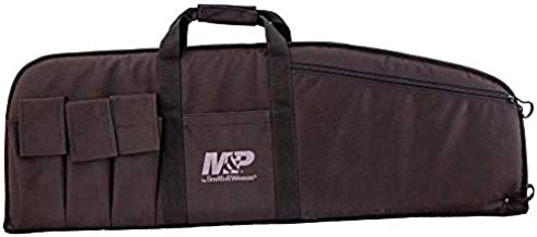 SMITH & WESSON M&P Duty Series Padded Gun Case with Ballistic Fabric Construction and External Pockets for Shooting, Range, Storage and Transport