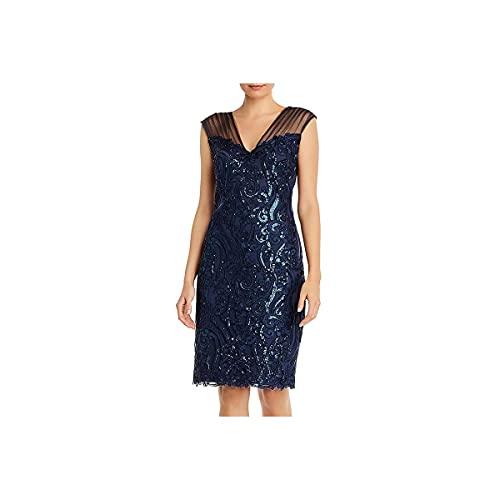 Tadashi Shoji Women's Dress, Prussian Blue, 12