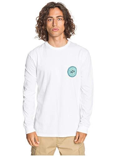 Quiksilver - Camiseta de Manga Larga - Hombre - S - Blanco