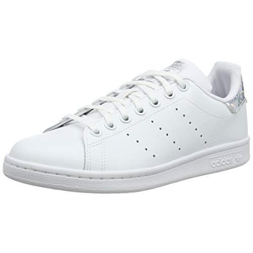 adidas Stan Smith J, Scarpe da Ginnastica, Ftwr White/Ftwr White/Core Black, 37 1/3 EU