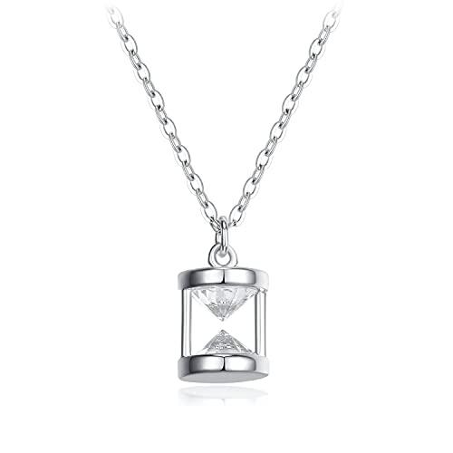 Collar S925 Collar De Reloj De Arena Collar De Dama Collar De Pareja De Joyas Plata
