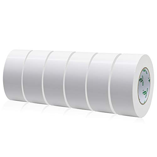 BOMEI PACK Mehrzweck Gewebeband Weiß, Reparaturband 50 mm x 50 m, 6 Rollen