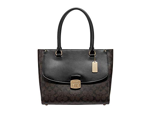 COACH Signature Avary Tote Brown/Black One Size