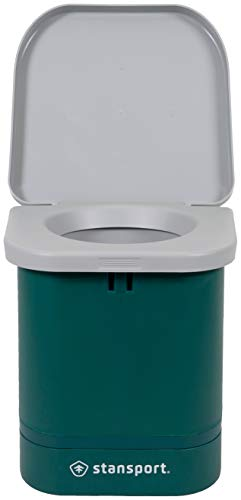 STANSPORT Portable Camp Toilet 14 x 14 x 14 in, Green