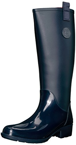 Tommy Hilfiger Women's Karissa Rain Boot, Marine, 9 M US