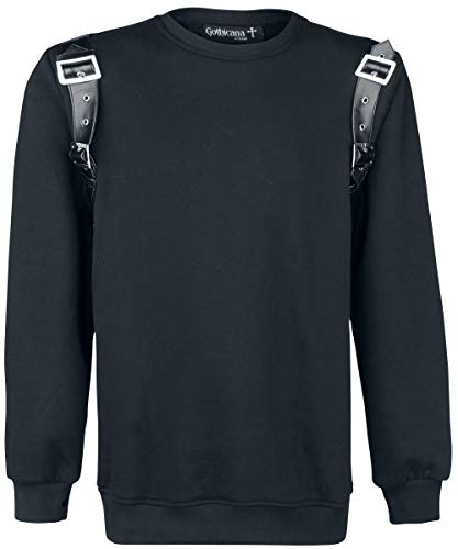 Gothicana by EMP Bullet with Butterfly Wings Hombre Sudadera Negro L
