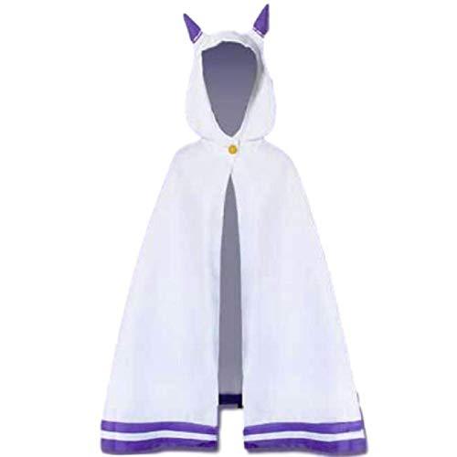 BMDHA Anime Re: Zero Emilia Cosplay Disfraz Gato Oreja Capa Capas Halloween Regalo de Cumplea?os para Hombres Mujeres,XL