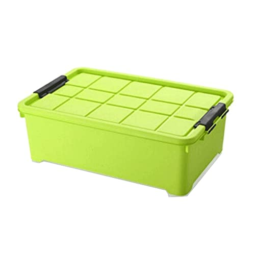 Hanpiyigzwl Cajas Almacenaje, Caja de almacenamiento de gran capacidad,caja de almacenamiento de plástico con tapa,caja de almacenamiento debajo de la cama,caja de almacenamiento de ropa,caja de almac