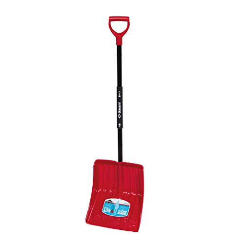 """Garant 13.9"""" Poly Blade Snow Shovel, with Foldable Steel Handle"""