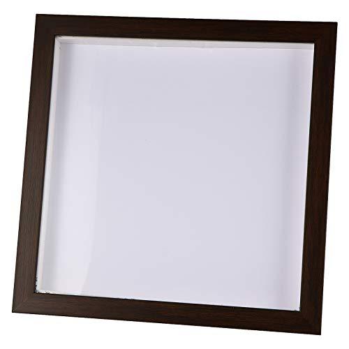 BESPORTBLE Quilling Marco de Fotos 3D Cuadrado Caja de Sombra Marco de Fotos Diy Pintura Medalla Flores Secas Soporte de Exhibición...