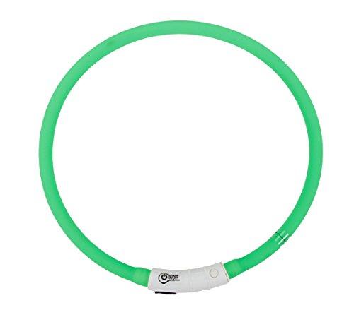 Dehner Hundezubehör Leuchthalsband Beamie LED, Länge 60 cm, grün