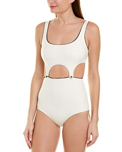 Morgan Lane Womens Maggie One-Piece, S, White