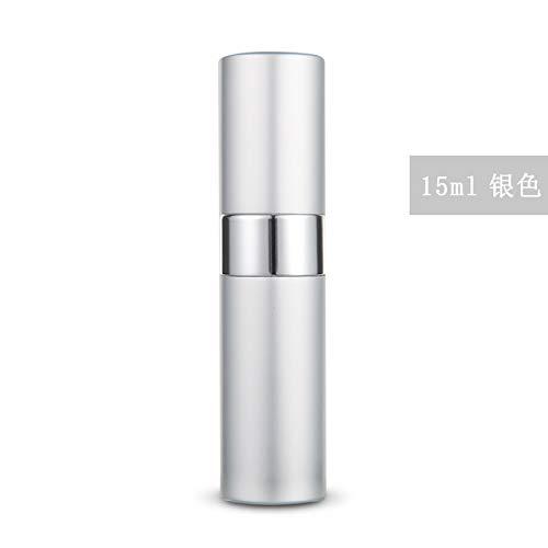 Bouteille de parfum en aluminium en aluminium, vaporisateur, argent 15 ml