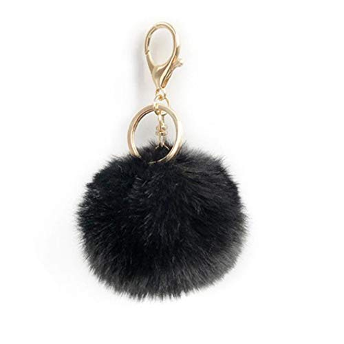 Pompom Keychain Ball Keyring Fluffy Plush Artificial Rabbit Fur Bags Backpacks Suitcase Pendant Accessories for Women Girls Convenient Tools